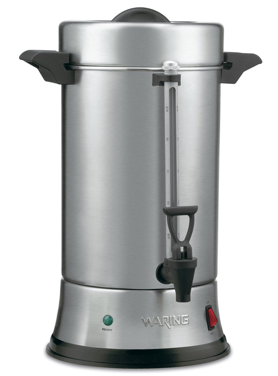 Waring Commercial WCU550 55-Cup Commercial Heavy Duty Stainless Steel Coffee Urn