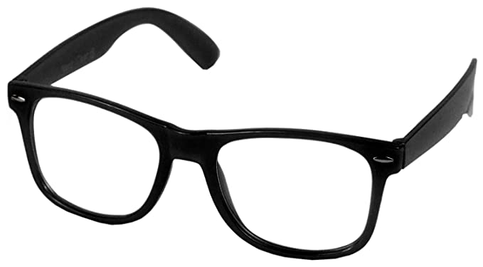 abdbb418f1 Nerd clear lunettes style wayfarer lunettes sans correction style avec verres  transparents monture et branches noir