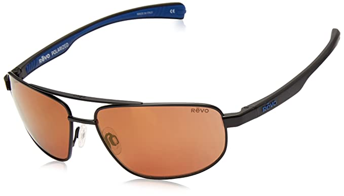 c23778fb938 Amazon.com  Revo Wraith RE 1018 Polarized Rectangular Sunglasses ...
