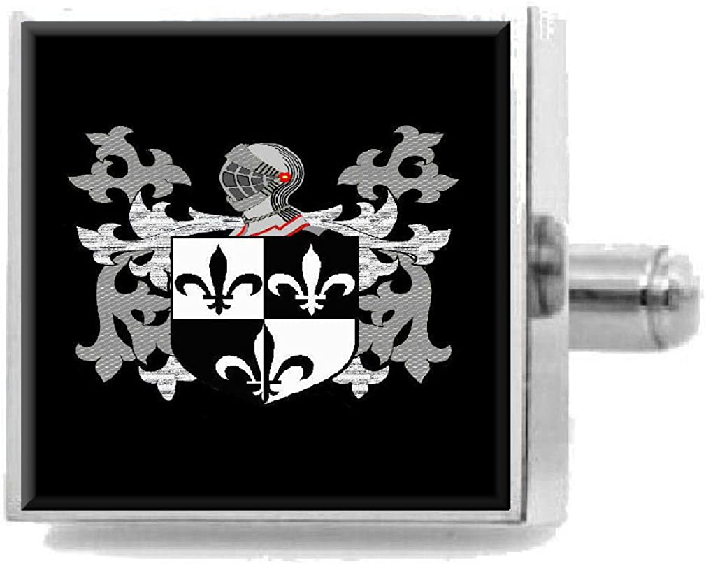 Select Gifts Nelson England Family Crest Surname Coat Of Arms Cufflinks Personalised Case