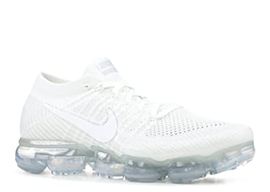 49f783ceaffbf Nike Men s Air Vapormax Flyknit White Sail Light Bone Metallic Silver Knit  Running