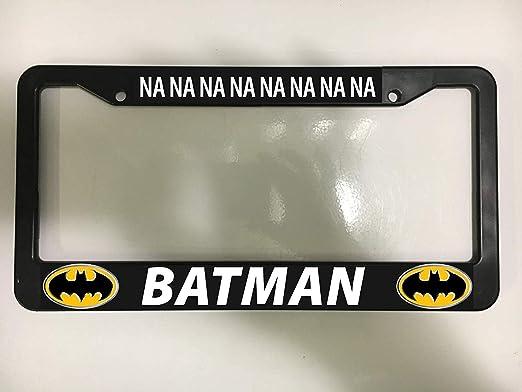 CHROMA 42519 Black Batman Logo Plastic Frame 12x6