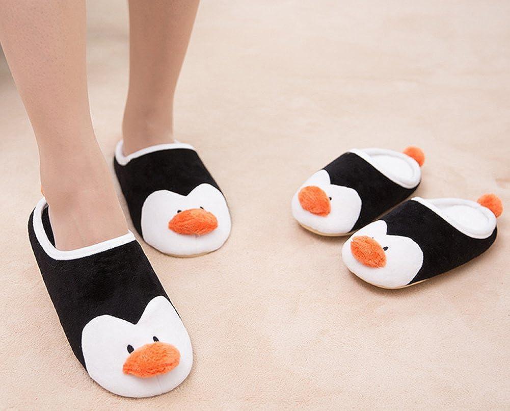Qujki Kids Penguin Family Love Beach Sandal Non-Slip Bath Slipper Black