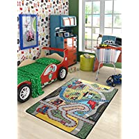 Homedora RC01 Kids Non-Slip Rubber Back Extremely Durable Anti-slip Water Resistant Small Rug for Childrens room Play room Fun & Smart Kids Home Décor - Animals World 72 x 9