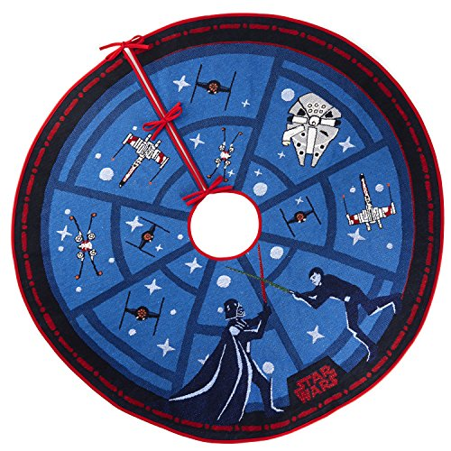 Hallmark Keepsake Christmas Tree Skirt 2018 Year Dated, Star Wars The Force Is Strong With Light
