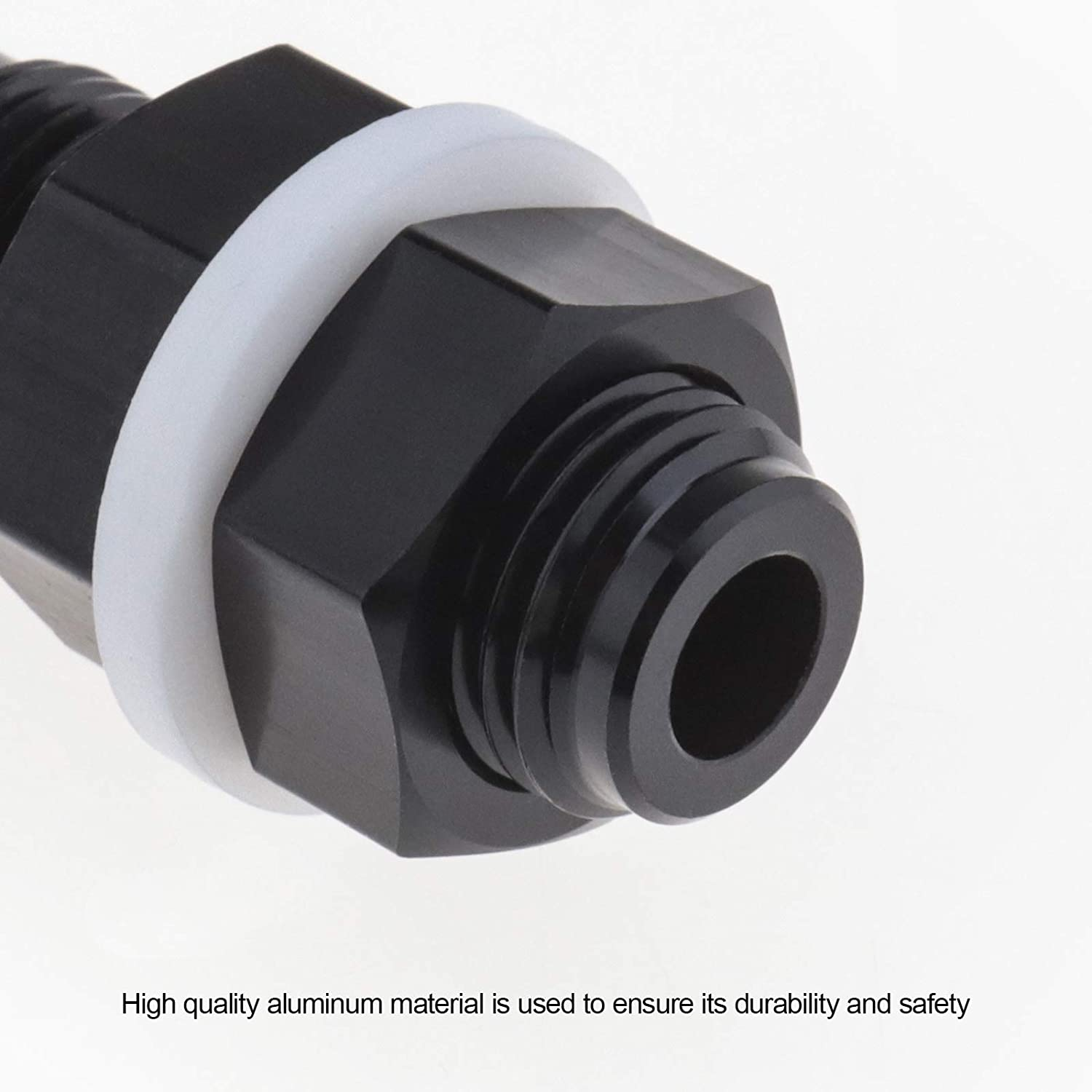 AN6 Bulkhead Adapter Fitting Aluminum Anodized for Fuel line to Fuel Cell Tank Pump Connection