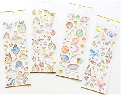 Planner//Diary//Scrapbooking Stickers 5 Sheets-Glossy Paper Sticker Grab Bags