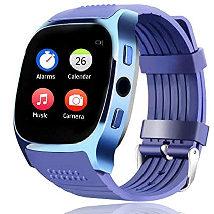 Bluetooth Smart Watch Screen Touch Wrist Smartwatch for Man Women Boys Girls Compatible with Android Samsung Huawei LG Motorola HTC with Heart Rate ...