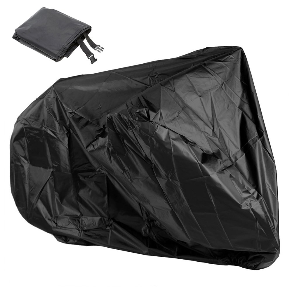 Bluecookies Bicycle Motorcycle Cover Black Waterproof Bike Outdoor 2 bikes Rain Dust UV Protector