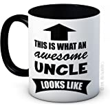 This is What an Awesome Uncle Looks Like - Funny High Quality Coffee Tea Mug