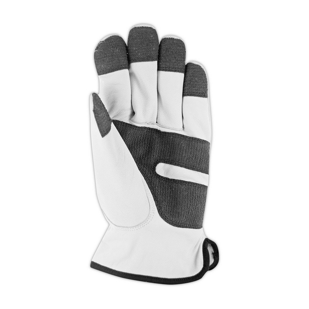 Magid Glove & Safety 1255KGS-L CutMaster Lined Leather Driver Glove with Keprotec Grip Strips Cut Level 4