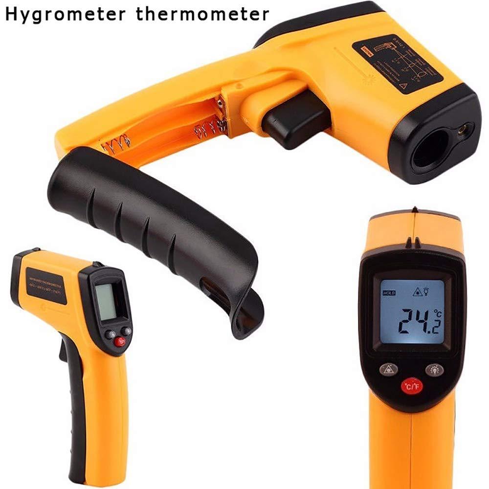 display laser digitale -50~380/°C Maso Pistola per la temperatura portatile senza contatto a infrarossi con batteria inclusa -58~716/°F