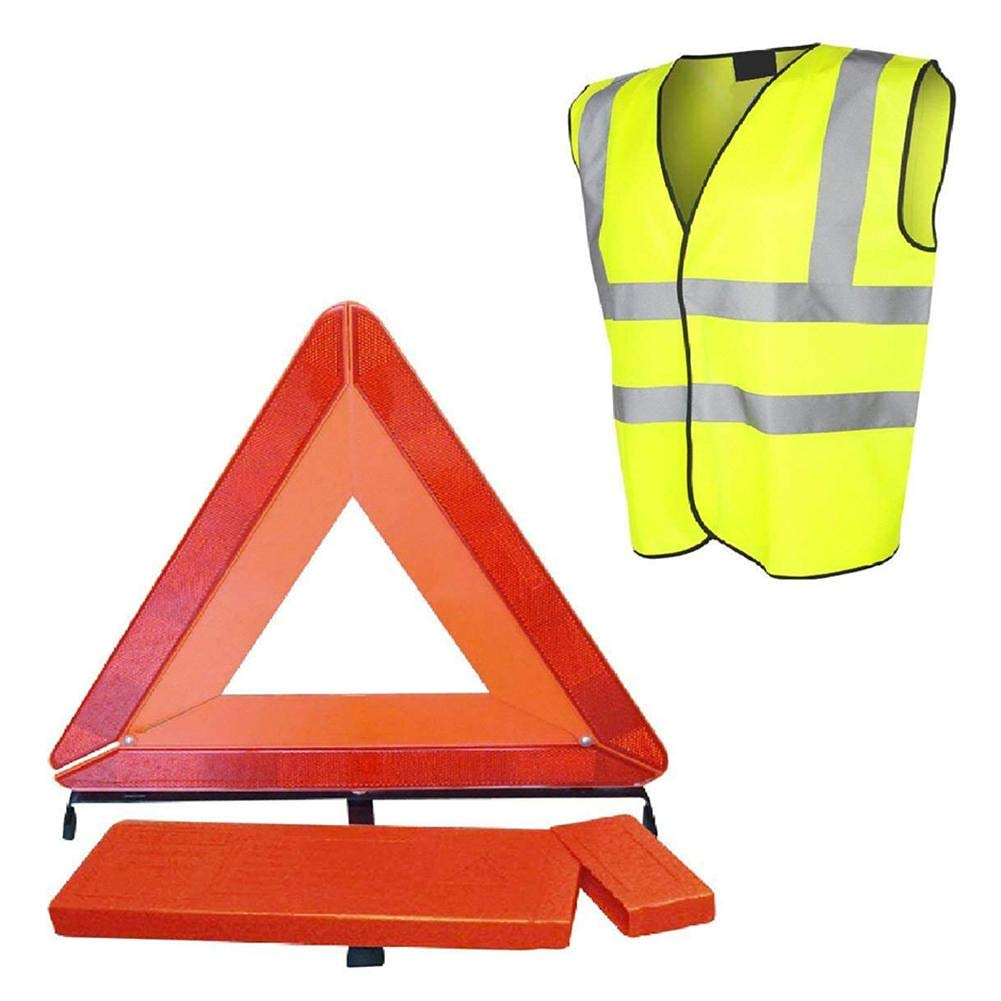 ZHUOTOP Foldable Early Warning Triangle Marked Signals Car Emergency Sign Reflective Safety Vest Zhuotop Direct