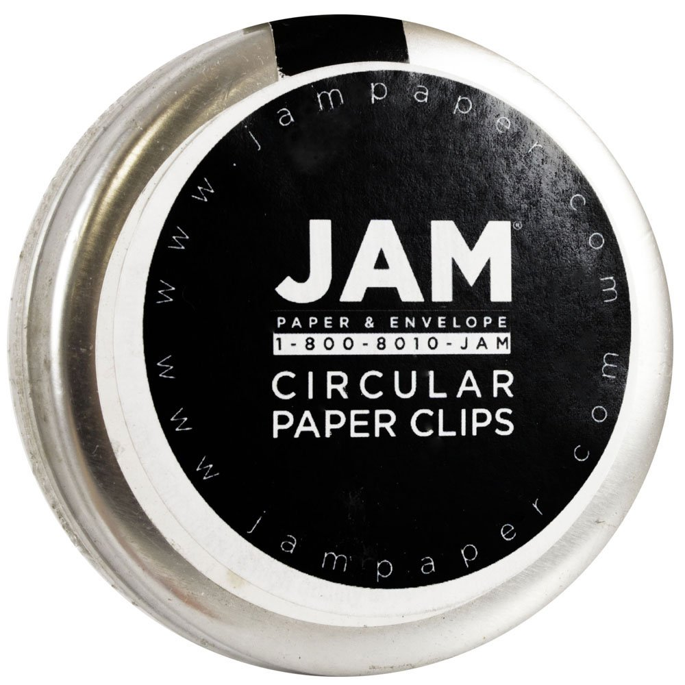 amazon com jam paper circular paper clips round paperclips