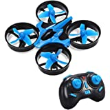 Mini Drone, Balahibo H36 RC Drone 2.4GHz 4CH 6-Axis Gyro with Headless Mode and One Key Return for Beginners & Kids (Blue)