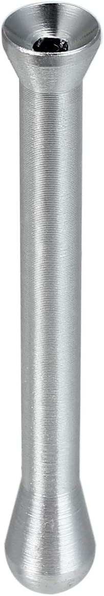Rhinoco Portable Metal Snuff Sniffer Snorter Nasal Straw Tube Powders Dispenser Bullet Silver