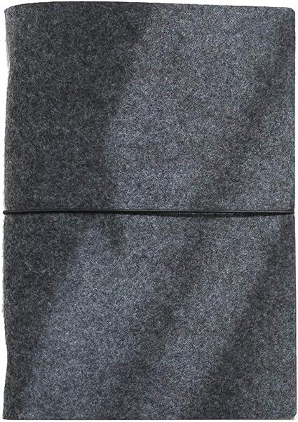 Estuche para notebook A5/A6/A7 simple Bloc de notas de fieltro de hoja floja de 6 orificios estándar Oficina de estudiantes con cordones Bloc de notas (Color : Black, Size : A6): Amazon.es: