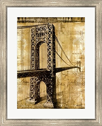 George Washington Bridge by P. Moss Framed Art Print, used for sale  Delivered anywhere in USA