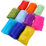 Laojbaba Juggling Scarves for Kids,30PCS Square Dance Scarf Magic Tricks Performance Props Accessories Movement Scarves Rhyth