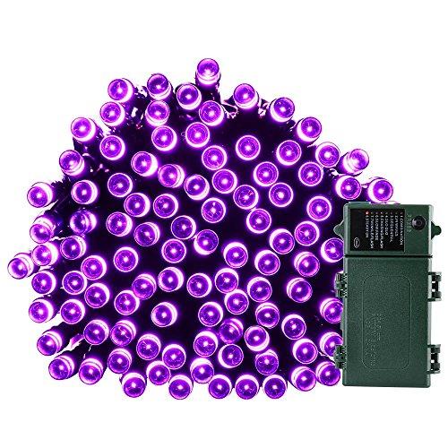 Qedertek Battery Operated Halloween String Lights, 50ft 2...