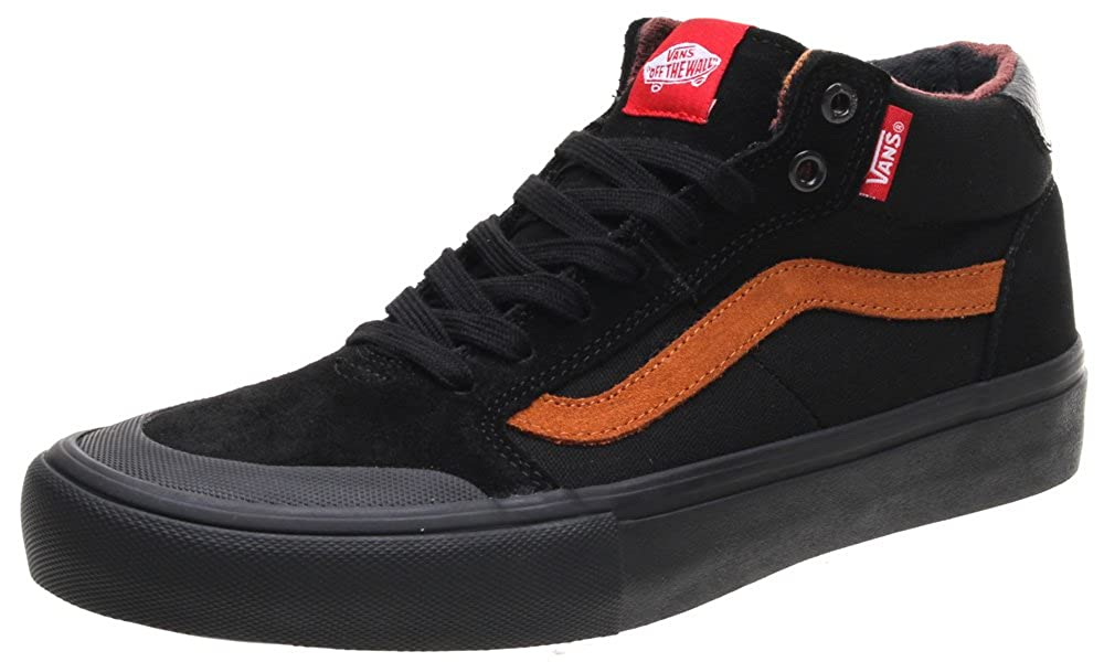 67a1947cd391e Vans Style 112 Mid Pro Dakota Roche Black Ginger Skate Shoes: Amazon ...