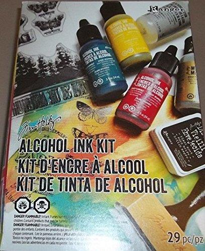 Starter Ink Kit (Ranger Docrafts RGRTDK.48213 THoltz Distress Alcohol Ink Kit 29 Piece)