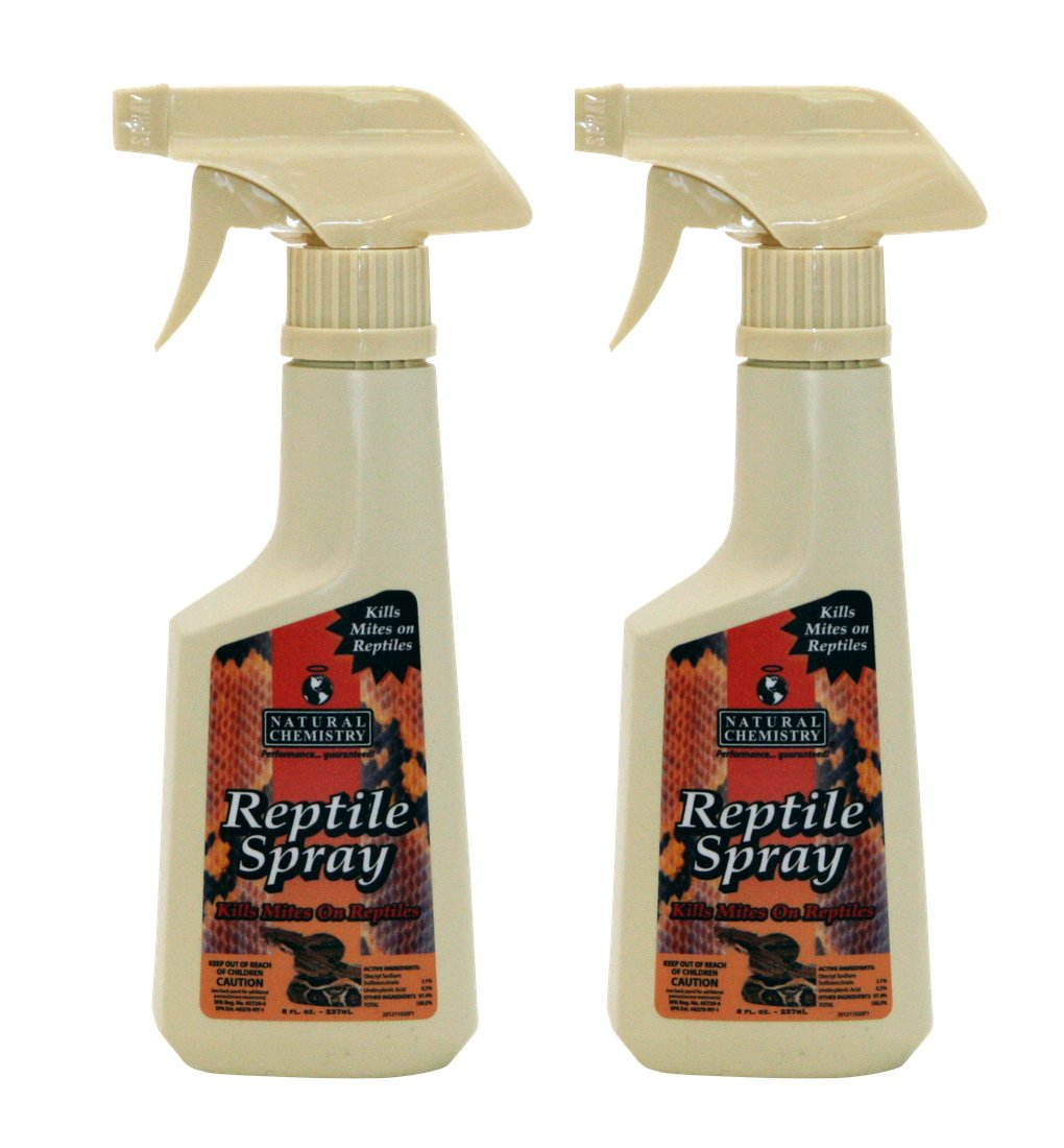 2) Natural Chemistry 11035 Reptile Lizard Spray Mite Parasite Relief - 8 oz Each