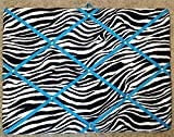 Zebra with Turquoise Ribbon French / Memo Board