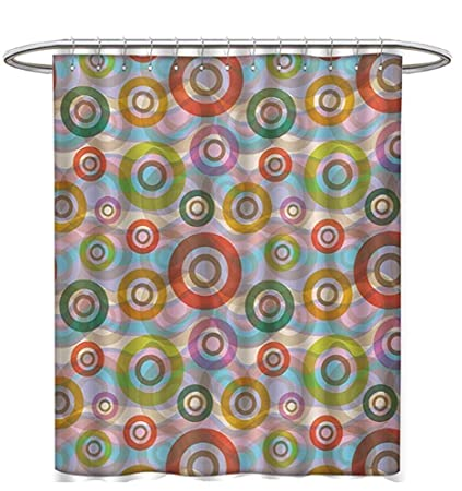 Amazon Retro Shower Curtains 3D Digital Printing Hippie Style