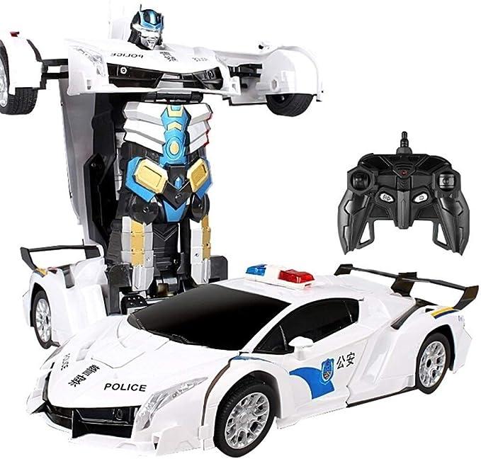 MUMUMI Carga de Gran tamaño del Juguete de Transformers Robot Transformadas de Optimus Prime Bumblebee Stunt Coche de los niños Deformación Autobots Coche teledirigido Camión (Color : Blanco): Amazon.es: Hogar
