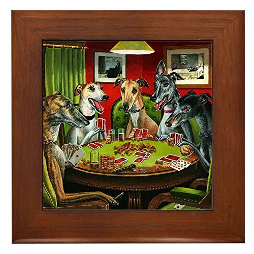 CafePress - A Greyt Hand - Framed Tile, Decorative Tile Wall Hanging