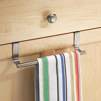 Toalla de cocina soporte para colgar percha, Woopower multifuncional puerta toalla gancho perchero de armario