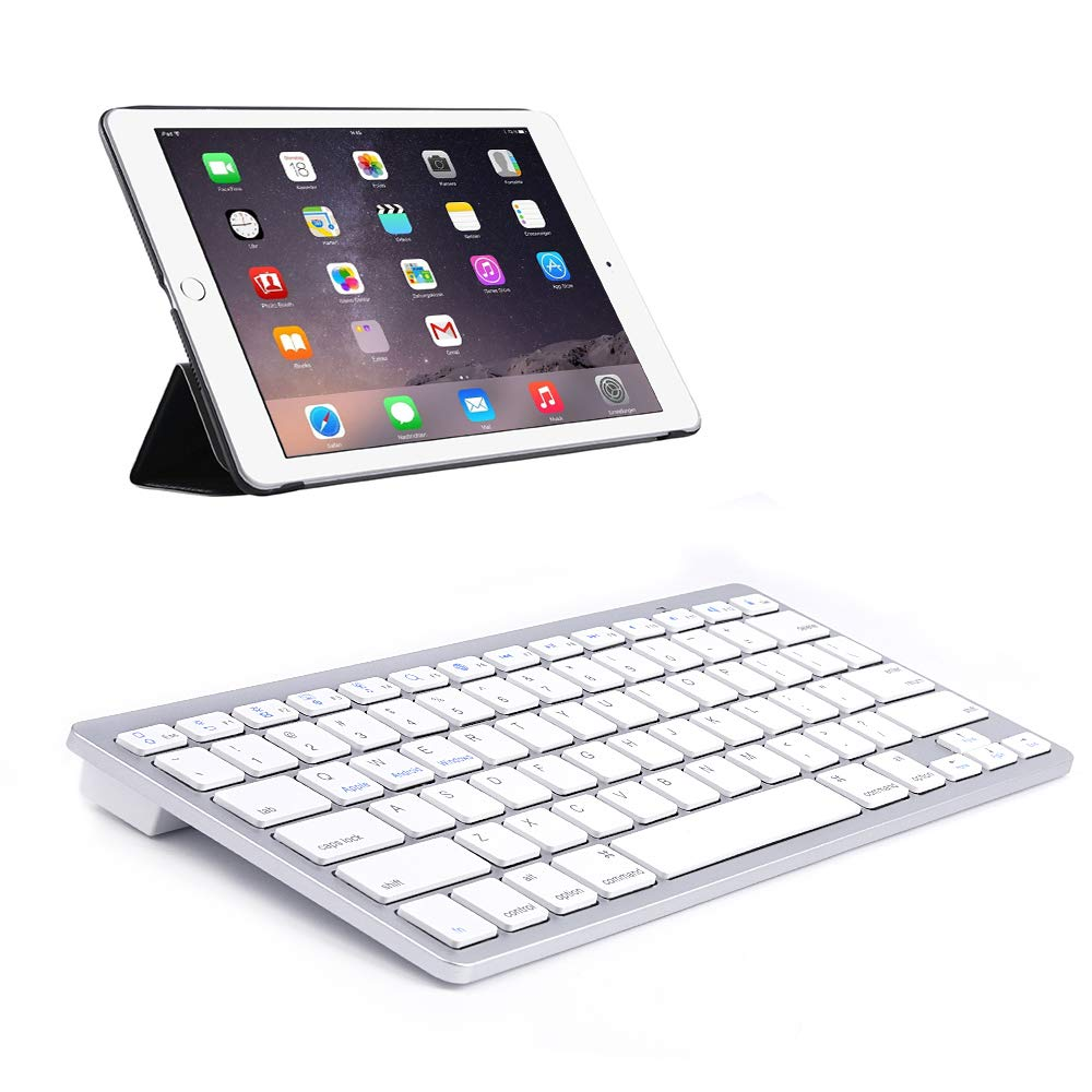 Wireless Bluetooth Keyboard for iPad,Portable Slim 7-Colors Backlit Keyboard,Compatible with iPad Pro 11//12.9,iPad Air,iPad Mini,iPhone and Other Smartphones,Built in Rechargeable Battery-Gold