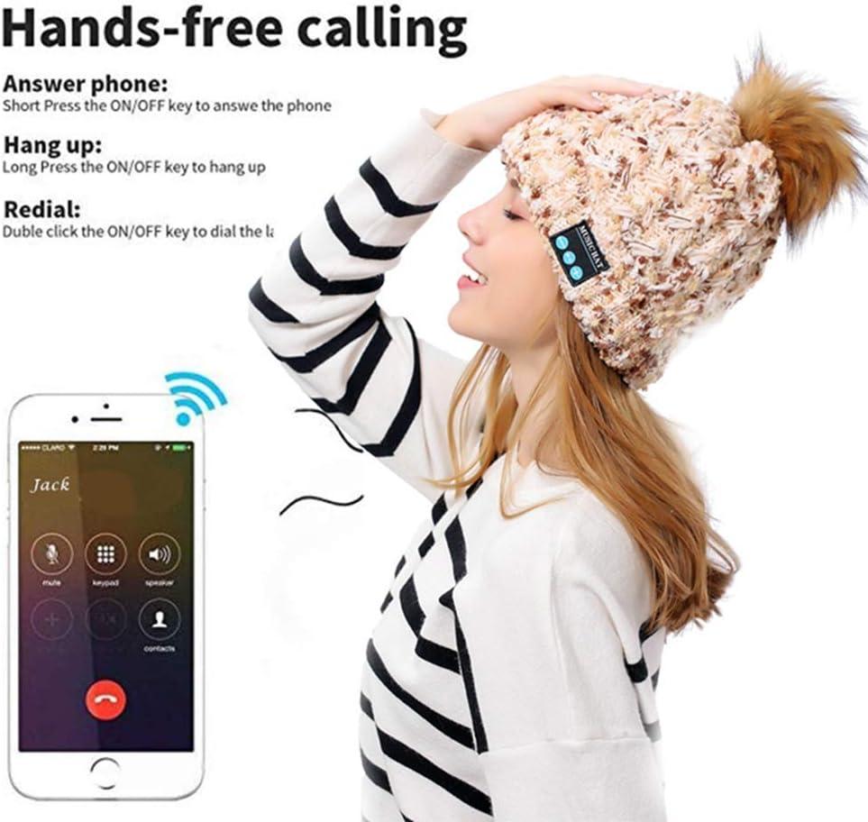 Bluetooth Beanie with Headphone Wireless Music Hat Cap Unisex Music Cap USB Charging for Sports Running Walking Ski Camping Bike Gifts