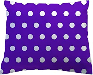 product image for SheetWorld - Toddler Pillowcase Hypoallergenic Made in USA - Polka Dots Purple 13 x 17