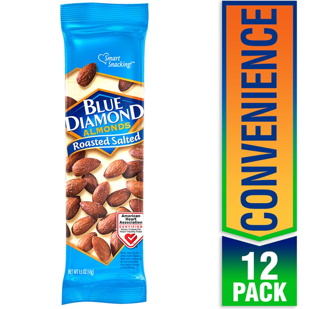 Blue Diamond Almonds, Roasted Salted, 1.5 Ounce (Pack of 12) by Blue Diamond Almonds (Image #1)