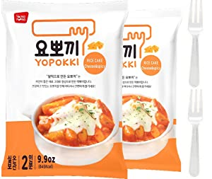 Instant Cheese Tteokbokki Rice Cake   Pack Of 2 Popular Korean Snack With A Spicy Sauce (cheese)