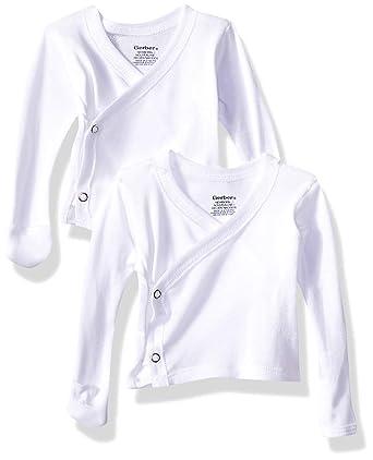 53285085a Amazon.com: Gerber Baby 6-Pack Long-Sleeve Side-snap Mitten-Cuff ...
