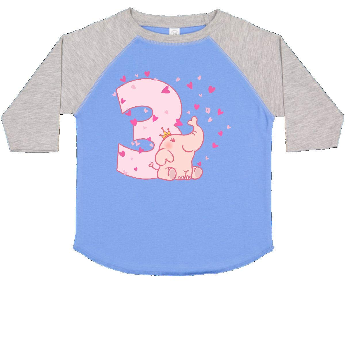 inktastic Pink Elephant 3rd Birthday Toddler T-Shirt