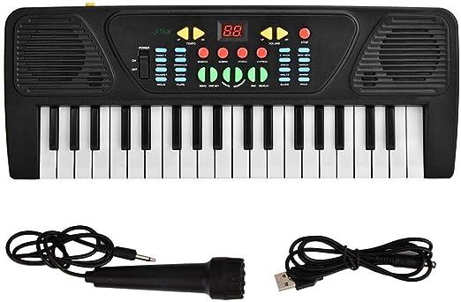 Wandisy 𝐁𝐥𝐚𝐜𝐤 𝐅𝐫𝐢𝐝𝐚𝒚 𝐒𝐚𝐥𝐞 Teclado de Piano eléctrico, Juguete de Instrumento Digital USB 37Key con micrófono para niños Digitales: Amazon.es: Hogar