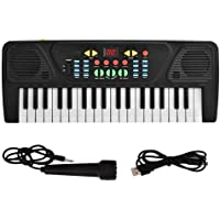 Plastic Electric Piano, 37 Keys USB Children Puzzle Early Education Keyboard Piano Digital Instrument Toy with…