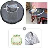 Baby Dinner Mat, Luerme Waterproof Highchair Bumper Pad Place Mat Cover for Baby Infant Kids