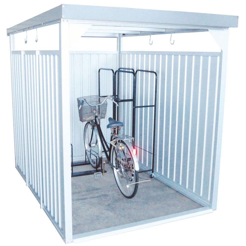 ダイマツ 多目的万能物置 サイクルハウス 物置 自転車 バイク 収納 屋外 ロング シルバー DM-11L B0761WK9MV