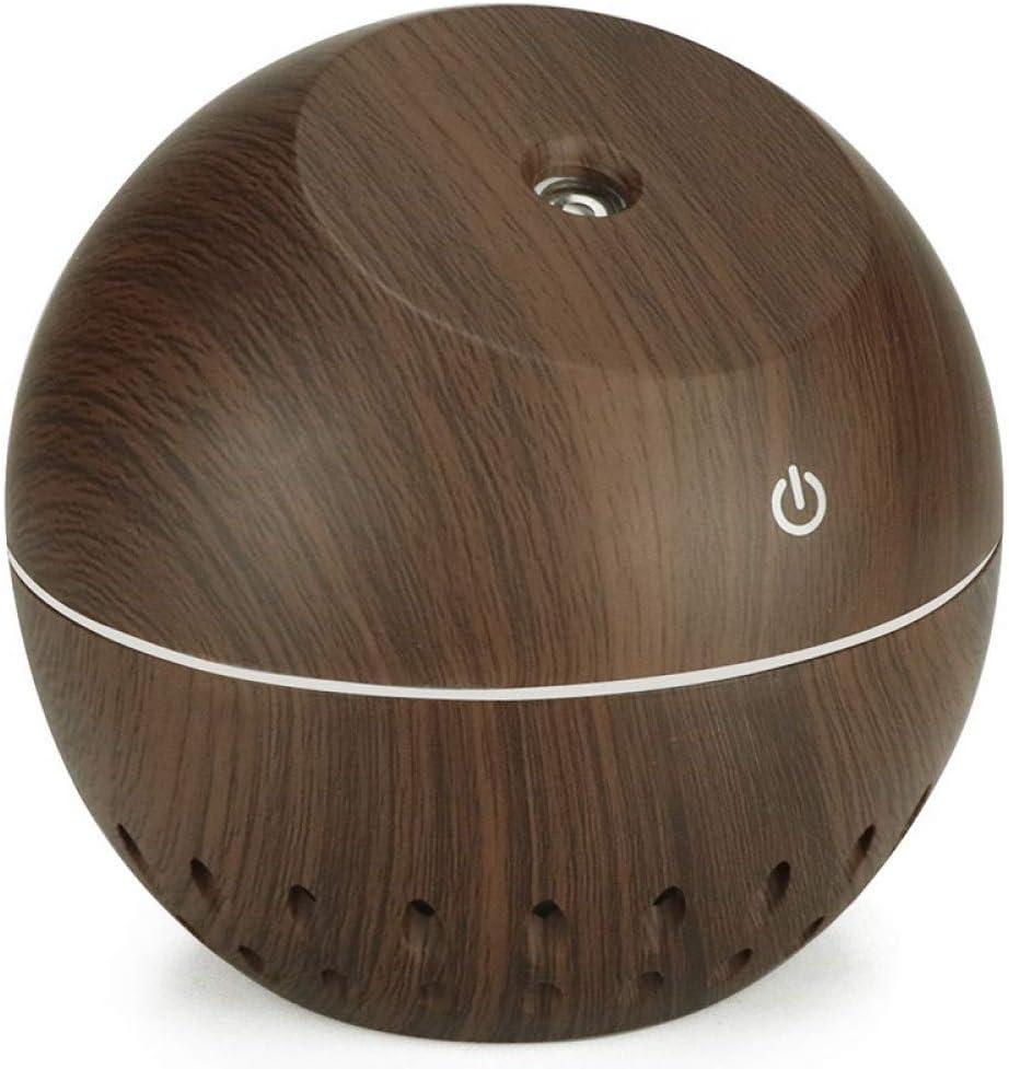 IROSE Difusor De Aceite Esencial De Grano De Madera USB 130 Ml Humidificador UltrasóNico Pulverizador De Aromaterapia para El Hogar con Led