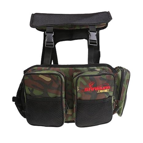 sharplace lienzo caja y asiento de pesca caja asiento para mochila ...