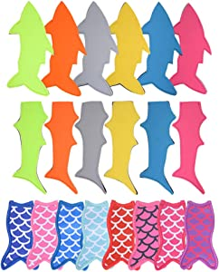 20 Pack Ice Pop Holders Popsicle Holder Bags Mermaid and Shark Ice Pop Sleeves Freezer Pop Holders Bags