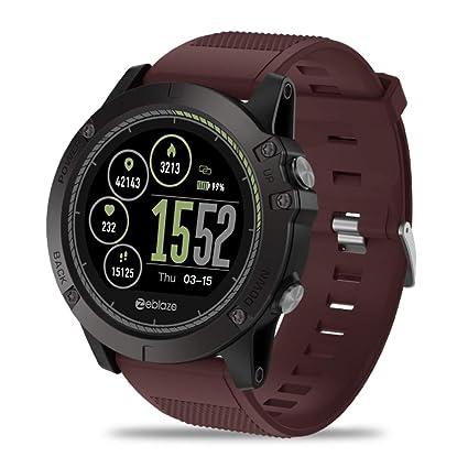 MUOGV Nueva Pantalla a Color IPS Sports Smartwatch Monitor de Ritmo cardíaco Ip67 Hombres Relojes Inteligentes