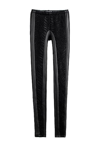 30506ac63c Punk Rave Zebra Stripes Pull On Pants for Women Rock Club Nights Leggings  Faux PU Chic Biker Outfits: Amazon.co.uk: Clothing