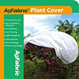 Agfabric Plant Cover Warm Worth Frost Blanket - 1.5 oz Fabric of 72''Hx84''Dia Shrub Jacket, 3D Round Plant Cover for Season Extension&Frost Protection
