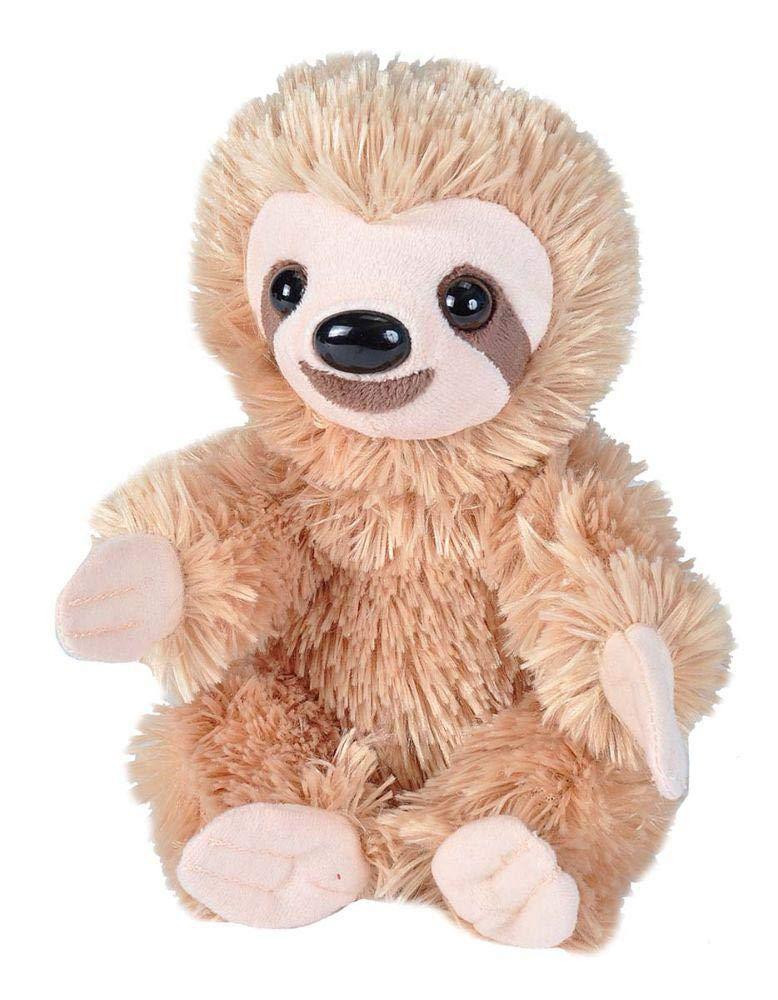 "B07B6GMJHF Wild Republic Sloth Plush, Stuffed Animal, Plush Toy, Gifts for Kids, Hug'Ems 7"" 61bmJjl4JqL"